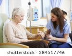 senior woman undergoing... | Shutterstock . vector #284517746
