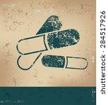 drug design on old paper... | Shutterstock .eps vector #284517926