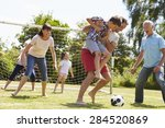 multi generation playing... | Shutterstock . vector #284520869