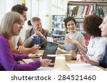 group of mature students... | Shutterstock . vector #284521460