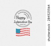 fourth of july independence day ... | Shutterstock .eps vector #284525564