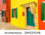 colorful apartment building in... | Shutterstock . vector #284529248