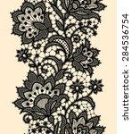 vertical seamless pattern.... | Shutterstock .eps vector #284536754