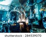 team welding robots represent... | Shutterstock . vector #284539070