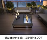 roof   terrace in a modern... | Shutterstock . vector #284546009