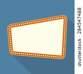 retro frame with lights  flat... | Shutterstock .eps vector #284547488