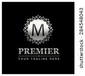 m letter luxury logo template... | Shutterstock .eps vector #284548043