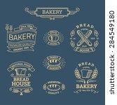 retro set label of bread bakery....   Shutterstock .eps vector #284549180