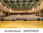 view of empty seats with seat...   Shutterstock . vector #284554820