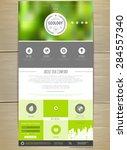 ecology concept web site design.... | Shutterstock .eps vector #284557340