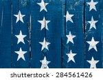white stars on blue painted on... | Shutterstock . vector #284561426