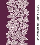 white lace. vertical seamless... | Shutterstock .eps vector #284564198