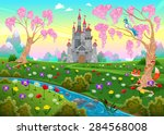 Fairytale Scenery With Castle....