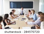 group of businesspeople meeting ... | Shutterstock . vector #284570720