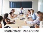 group of businesspeople meeting ...   Shutterstock . vector #284570720