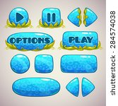 cartoon blue buttons with...