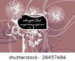 floral frame | Shutterstock .eps vector #28457686