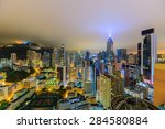 hong kong view at night from my ... | Shutterstock . vector #284580884