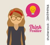 think different design over... | Shutterstock .eps vector #284594966