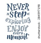 vector calligraphic hand drawn... | Shutterstock .eps vector #284597198