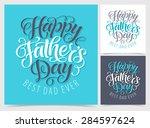 vector set of illustrations for ... | Shutterstock .eps vector #284597624