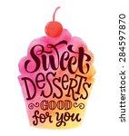vector illustration of cupcake... | Shutterstock .eps vector #284597870