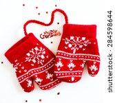 merry christmas letters  little ... | Shutterstock . vector #284598644