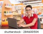 student  college student ... | Shutterstock . vector #284600504