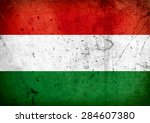 grunge flag of hungary | Shutterstock . vector #284607380