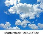 blue sky   cloudy sky