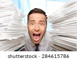 emotional stress  exhaustion ... | Shutterstock . vector #284615786