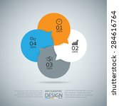 abstract infographic modern... | Shutterstock .eps vector #284616764