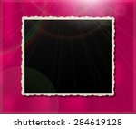 vintage photo frame over a... | Shutterstock .eps vector #284619128