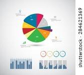 business infographics template. ... | Shutterstock .eps vector #284621369