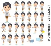 a set of men with who express... | Shutterstock .eps vector #284622674