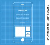 wireframe blueprint mobile app...