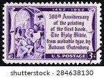 usa   circa 1952  a stamp... | Shutterstock . vector #284638130