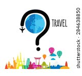 travel and tourism concept... | Shutterstock .eps vector #284638850