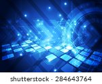 vector digital technology... | Shutterstock .eps vector #284643764