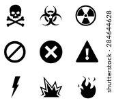 Vector Set Of Black Warning...