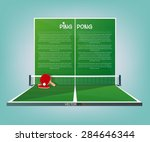 ping pong  tennis table vector... | Shutterstock .eps vector #284646344