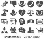 medical icon set. style  icons... | Shutterstock .eps vector #284646800