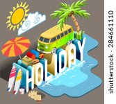 summertime alternative... | Shutterstock . vector #284661110