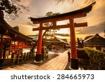 fushimi inari taisha shrine in... | Shutterstock . vector #284665973