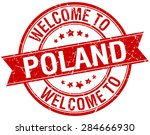 welcome to poland red round... | Shutterstock .eps vector #284666930