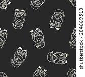 santa claus doodle seamless... | Shutterstock . vector #284669513