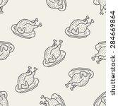 Turkey Doodle Seamless Pattern...