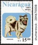 nicaragua   circa 1987  mail... | Shutterstock . vector #284670008