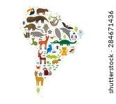 south america sloth anteater... | Shutterstock .eps vector #284671436