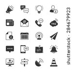information   website icon on... | Shutterstock .eps vector #284679923